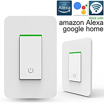 smart wi fi light switch wireless wall switch compatible with alexa google home ifttt ios. Black Bedroom Furniture Sets. Home Design Ideas