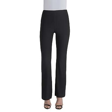 7cb77ebe7edccd Lyssé Women's Flare Slit Pant (Black, M) at Amazon Women's Clothing ...