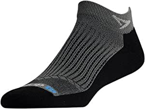 Drymax Running Mini Crew, Anthracite/Black, M11-13