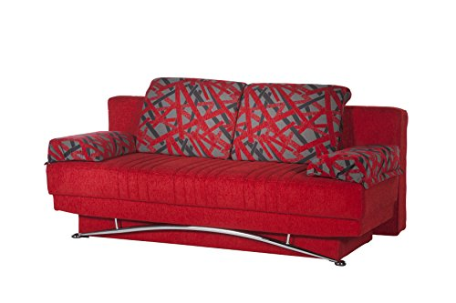 (ISTIKBAL Multifunctional Futon and Sofa Queen Size Sleeper Fantasy Collection (RED))