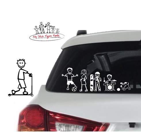 Amazon.com: My Stick Figure Family Car Window Vinyl Bumper ...