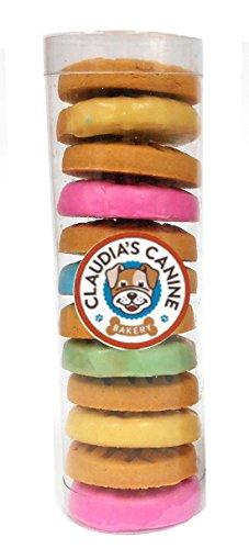 Claudia's Canine Bakery Peanut Butter Cookies Dipped in Yogurt - Everyday Tube of Treats - Gourmet Dog Treats by (Gourmet Cookies Dipped)