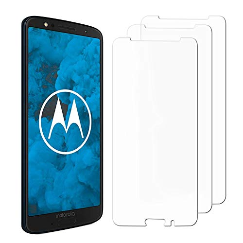 [3 Pack] Moto G6 Screen Protector, Hattomen Tempered Glass Screen Protector For Motorola Moto G6 [9H Hardness] [Crystal Clear] [Anti-Scratch]