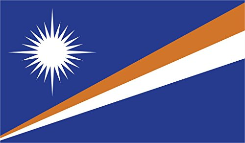 (JMM Industries Marshall Islands Flag Vinyl Decal Sticker Aolepān Aorōkin M̧ajeļ Car Window Bumper 2-Pack 5-Inches by 3-Inches Premium Quality UV-Resistant Laminate PDS479 )