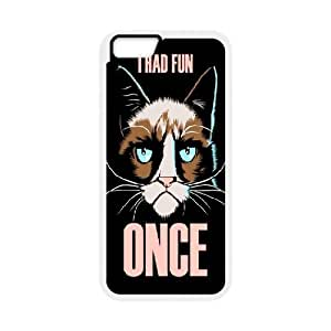 iPhone 6 Case,Grumpy Cat I Had Fun Once Hard Shell Back Case for White iPhone 6 Okaycosama319542