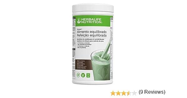 HERBALIFE Batido Formula 1 sabor CHOCOLATE CON MENTA: Amazon.es: Hogar