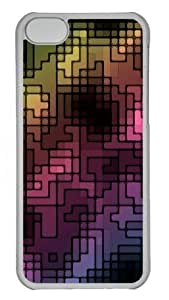 Abstract multicolor Polycarbonate Hard Case Cover for iPhone 5/5s Transparent