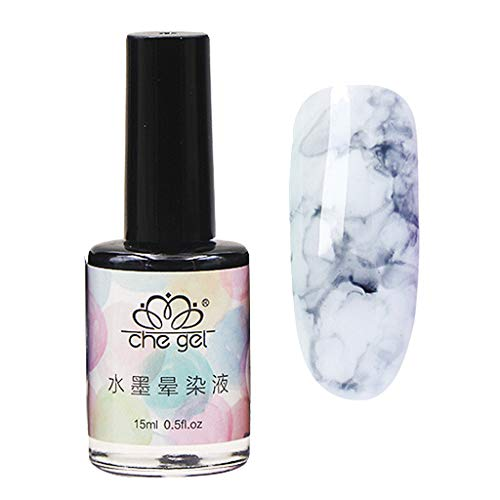 Orcbee  _Watercolor Ink Liquid Nail Polish Gel Effect Marble Gradient Manicure Women Nail Art (I)