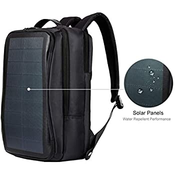 HAWEEL Solar Backpack, Outdoor Multi-Function Large Capacity Solar Panel  Power Comfortable Breathable Casual Backpack Laptop Bag with Handle,  External USB ... 275af773e0