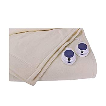 Image of SoftHeat by Perfect Fit   Luxury Micro-Fleece Low-Voltage Electric Heated Blanket (King, Natural) Home and Kitchen