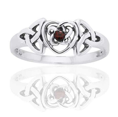 Garnet January Birthstone Ring - 2