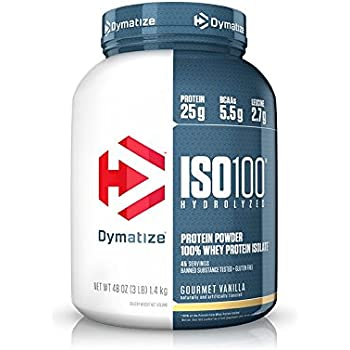 Dymatize ISO 100 Whey Protein Powder Isolate, Gourmet Vanilla, 3 lbs