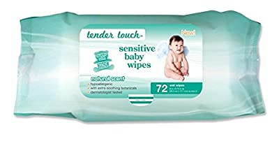 Best Selling, Dermatologist Tested, Tender Touch Sensitive Skin 72 Count, Baby Wipes,