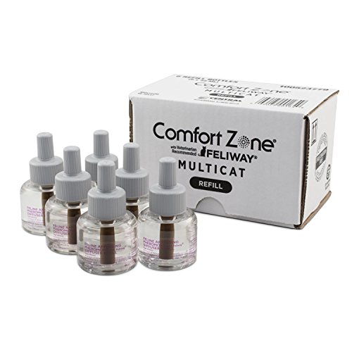 Comfort Zone Multicat Diffuser Refills, 6 Pack, For Cat Calming