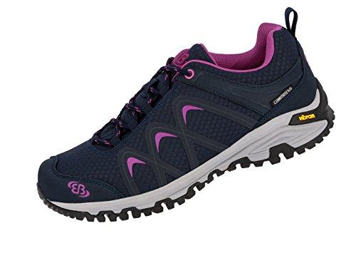 Bruetting WoMen Missouri Low Rise Hiking Shoes Blue (Marine/Lila Marine/Lila)