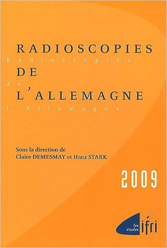 Livres Radioscopies de l'Allemagne pdf, epub ebook