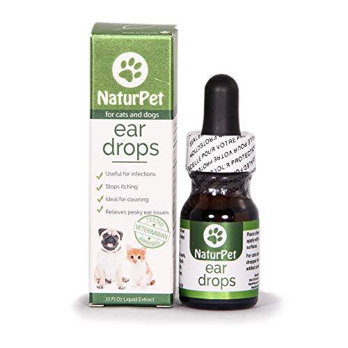 NaturPet Ear Drops | Natural Ear Infection Medicine For Dogs | Ear Mites Cats | Dog Ear Cleaner | Cat Ear Cleaner | Helps with Wax, Yeast, Itching & Unpleasant Odors
