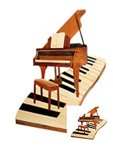 Wall Art--inlaid Wood Piano -