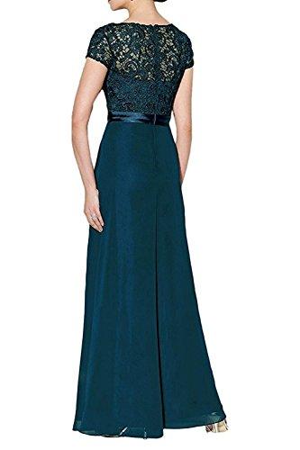 Festlichkleider Abendkleider Partykleider La Damen Rosa Royal Blau Hell Kurzarm Spitze Brautmutterkleider Promkleider mia Lang Braut wqgvH