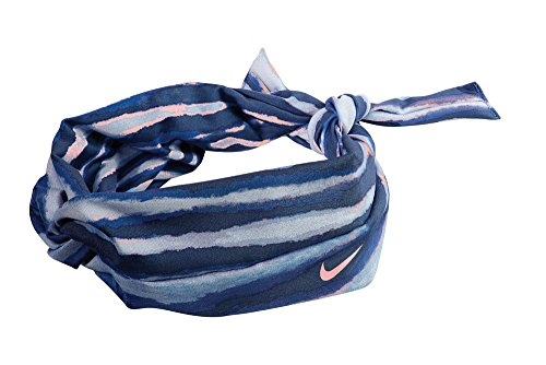 NIKE Studio Twist Tiger Print Head Tie (One Size Fits Most, Hyper Cobalt/Bright Mango) -