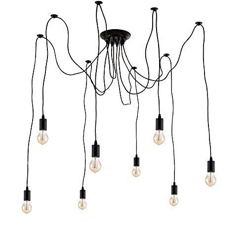 Ohr Lighting Pendant 8 Light Chandelier Multiple Adjustable Industrial Antique Style Matte ()
