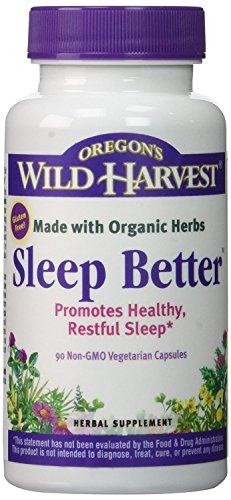 Oregon's Wild Harvest Sleep Better Organic Supplement, 90 Count vegetarian capsules
