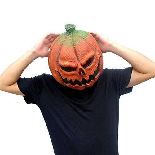 Pumpkin Full Face Head Latex Mask Novelty Halloween