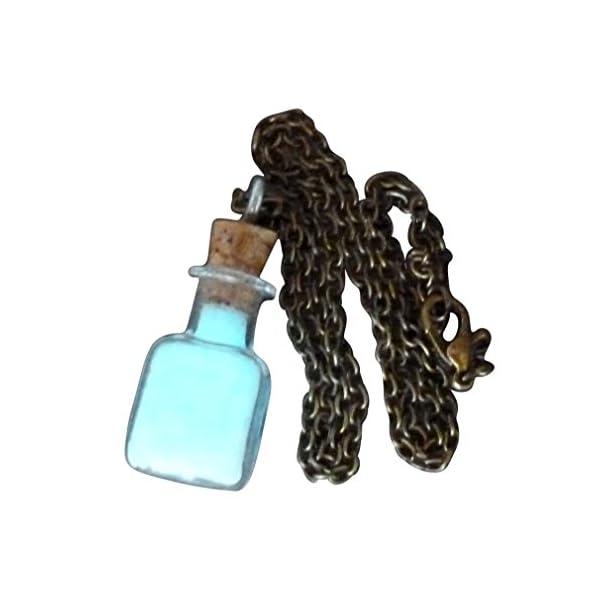 Steampunk Necklace Magic Fire Fairy Angel Dust Pendant Charm Glow in The Dark Kawaii Pixie 7
