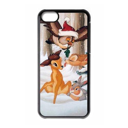 Bambi coque iPhone 5C Housse téléphone Noir de couverture de cas coque EBDOBCKCO10427