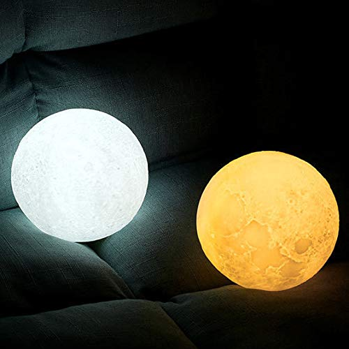 Engraved 3D Moon Lamp for Daughter,Personalized 5.9 Inch 3D Printing Moon Light Gift for Daughter Son Graduation Gift from Mom, from Dad (for Wife) by K KENON (Image #5)