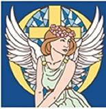 6'' x 6'' Ceramic Designer Tile ANGEL WITH CROSS 6552C