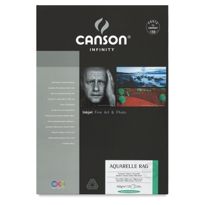 Infinity Aquarelle Rag 240Gsm 13X19 25/Sheets by Canson