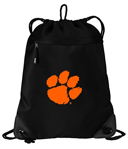 Broad Bay Clemson Tigers Drawstring Bag Clemson University Cinch Pack Backpack Unique MESH & Microfiber