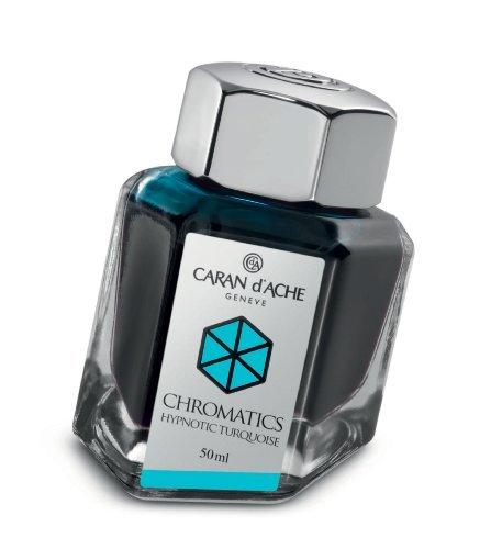 Caran d'Ache 50ml Chromatics Ink Bottle - Hypnotic Turquoise