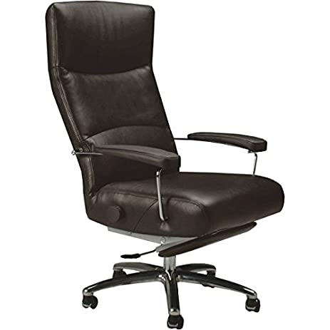 Josh Executive Recliner Brown Leather Lafer Recliners