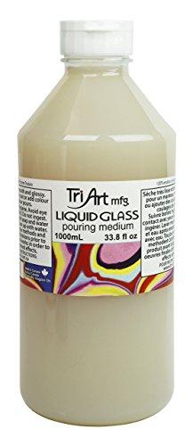 (Tri-Art Liquid Glass Pouring Medium 1000mL)