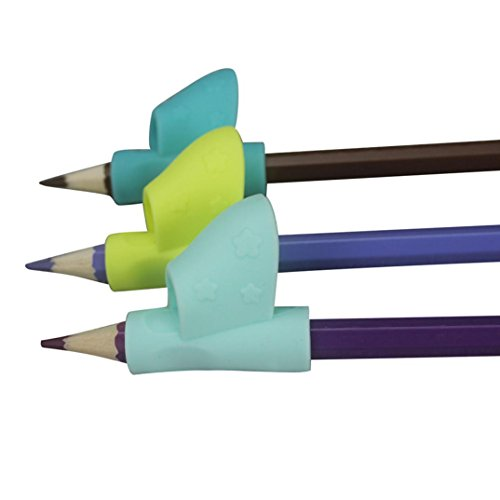 TrimakeShop 3PCS Silicone Pencil Training Grip Holder for Kids Handwriting Preschool (Boys)