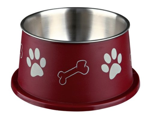 Trixie Long-ear bowl, stainless steel, plastic coated,15 cm