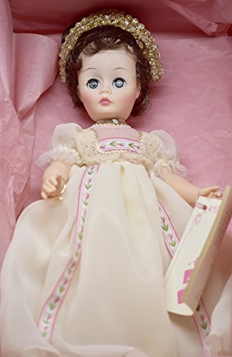 Madame Alexander - Storyland Dolls - #1335 - Josephine 12 Inch Doll - Brown Hair / Blue Eyes - Tiara - Brown Hair / Blue Eyes - Pearl & Diamond Necklaces - Snake Arm Bracelet - Cream Colored Lace Trimmed Floral Adorned Gown - Hose / Pantaloons - Slippers - Tags - Out of Production - New - Mint - Collectible