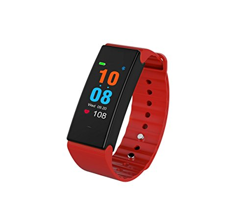 Price comparison product image Meiya Store 0.96 Inch Color Blood Pressure Smart Bracelet Heart Rate Monitor Movement 15 Children Swimming Waterproof Men's Male Health Relatives Wear Health Data Monitoring (Color : Red)