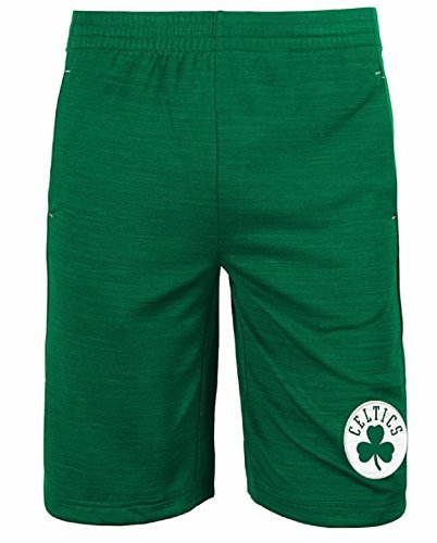 Boston Celtics NBA Youth Free Throw Shorts Green (Youth Medium 10/12)