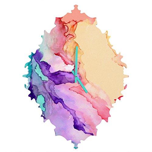 Deny Designs Rosie Brown Color My World Baroque Clock, 19 x 14