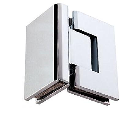 Di Vapor R 90 Degree Glass To Glass Shower Door Hinge Chrome