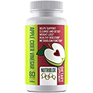 Nutriblox Extra Strength Apple Cider Vinegar Pills (1,300mg) - Helps Support: Natural Weight Loss, Cleanse and Detox, Premium Non-GMO Capsules