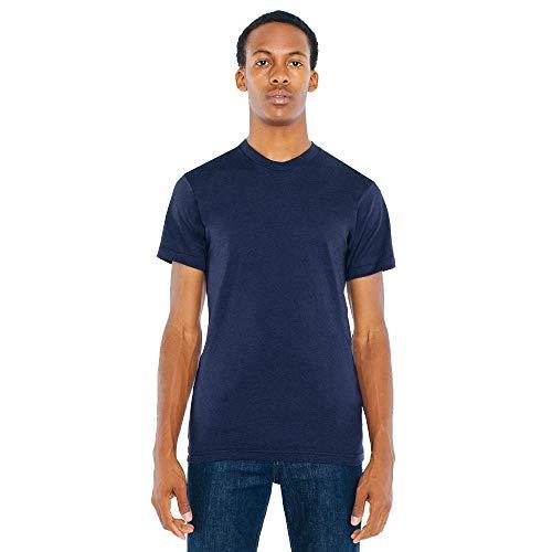 American Apparel BB401W Unisex Poly-Cotton Crew Neck T-Shirt Navy L