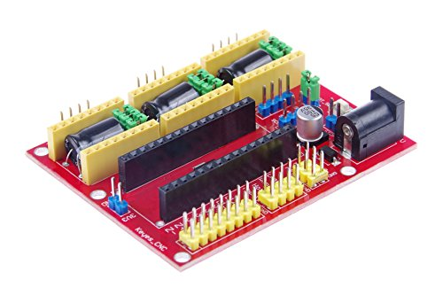 KNACRO CNC Shield v4.0 3-axis Stepper Motor Drive Board Compatible with Arduino Nano