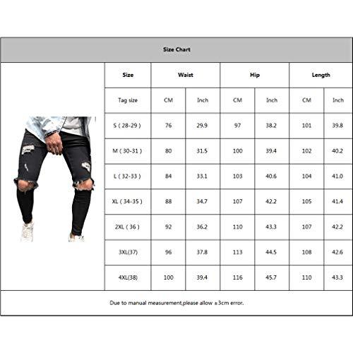 3xl Denim Libero Tempo E Pantaloni Uomo Jeans Cerniera Estivi Slim Fit Yying Plus Size Da Distrutti Il Con Skinny Per S Autunnali Azzurro 0174q