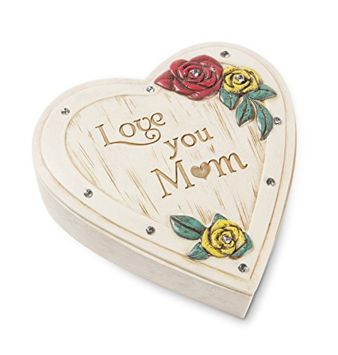 Pavilion Gift Company 41078 Mom Heart Keepsake Box, 4 x 1-1/4