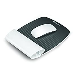 Fellowes I-Spire Series Wrist Rocker, Mouse Pad with Rocking Motion Support, White (9314801)