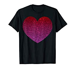Big Sequin Heart Graphic T-Shirt